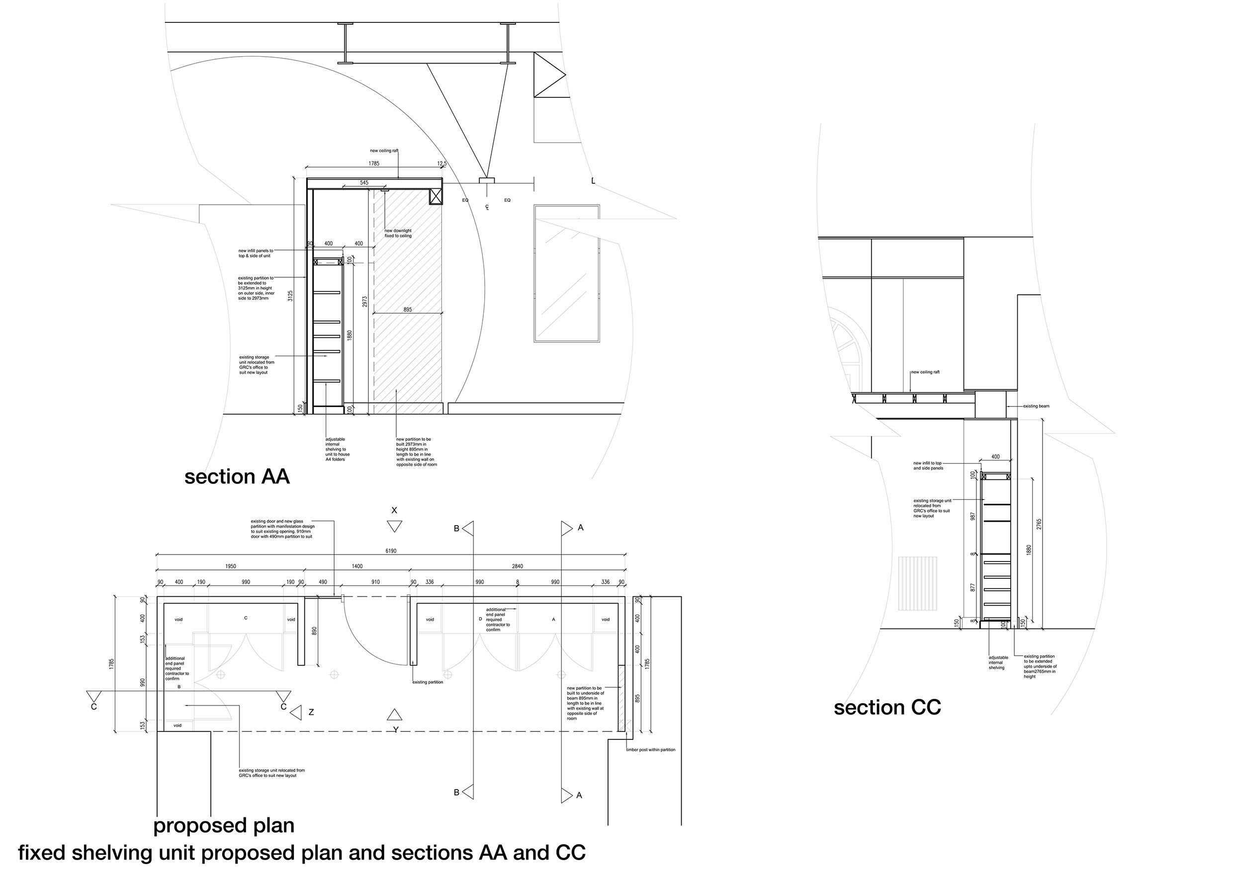 Desk Section Drawing